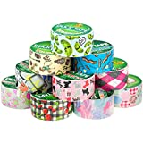 "10 Rolls Bulk Lot Pack Duck Duct Tape Colored Patterns Designs 1.88"" x 30' Decorative Crafts Wallet"