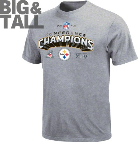 Pittsburgh Steelers Big & Tall 2010 AFC Conference Champions Super Bowl XLV Locker Room T-Shirt