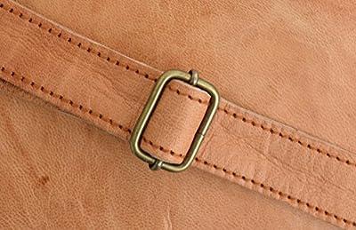 """Gusti Cuir nature """"Randy"""" sac à main en cuir sac bandoulière sac cuir véritable et naturel sac porté épaule élégant chic vintage besace cabas en cuir soirée sortie marron K62b"""
