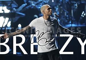 Amazon.com: (11.7 X 8.3) Chris Brown Breezy Signed R&B ...