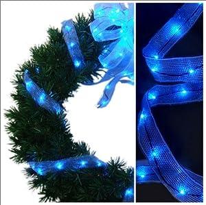 Starlite Creations Starlite Creations 9ft LED Ribbon Lights, 54 Lights, Blue
