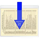 StoreSMART® - File Jacket with Magnetic Back - 5-Pack - Clear Plastic - Heavy Duty - FJ85STCM-5