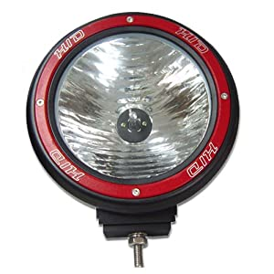 "Tuff Stuff Performance 55 Watt 7"" Off Road Hid Light - 6000K- ""Red"" Ring"