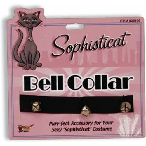 Adult Womens Cat Bell Collar Necklace Costume Jewelry Accessory