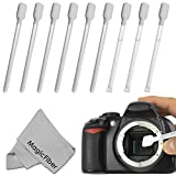 (9 Pack) Altura Photo Sensor Cleaning Swab Set (CCD CMOS) - Includes: 6 Dry and 3 Wet Sensor Swabs + 1 MagicFiber Microfiber Cleaning Cloth