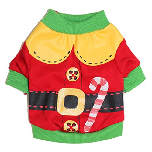 Small Dog Shirt, Voberry Christmas Dog Clothes Santa Doggy Costumes Clothing Pet Apparel New Design (L, (Doggy Clothing)