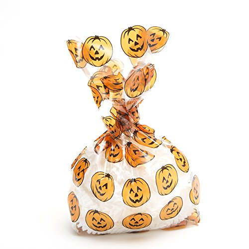 Pumpkin Print Cellophane Party Bags - 1