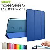 iPad mini case/iPad mini Retina/iPad mini 3 case,ESR Yippee Color Series Smart Cover+Transparent Back Cover [Ultra Slim] [Light Weight] [Scratch-Resistant Lining] [Perfect Fit] [Auto Wake Up/Sleep Function] iPad mini Cover for iPad mini 3/2/1(Navy Blue)