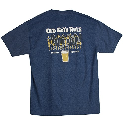 Old Guys Rule Men's Untapped Potential, Navy Heather, Large (Old Guys Rule T Shirts compare prices)