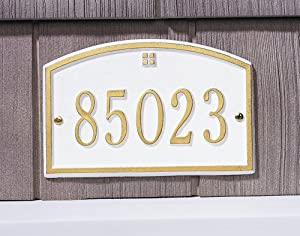 One Line Cape Charles Petite Wall in White / GoldWhitehall-1179
