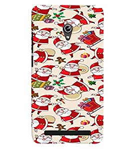 Printvisa Assorted Santa Clause Pattern Back Case Cover for Asus Zenfone 6::Asus Zenfone 6 A600CG