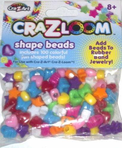 The Cra-Z-Art Shimmer 'N Sparkle Cra-Z-Loom Shape Beads (100 ct) - 1