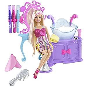 Barbie Hairtastic Color And Wash Salon Playset