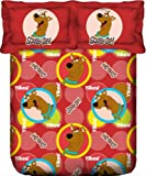 Portico New York Scooby Doo Cotton Bedlinen with 2 Pillow Covers - Queen Size, Red (107039600112)