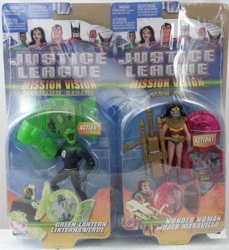 Buy Low Price Mattel Justice League Mission Vision: Green Lantern and Wonder Woman Figures (B000KFVNKQ)