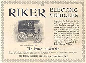 1900 Riker Electric Car Delivery Wagon Ad Elizabethport at Amazon's