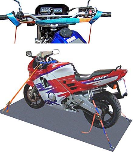 Motorradsicherung-komplett-vornhinten-Motorrad-Zurrsystem-Motorradspanngurt