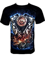 Rock Chang T-Shirt Skull Machine (Glow In The Dark) GR 319