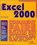 echange, troc Sherry Kinkoph - Excel 2000