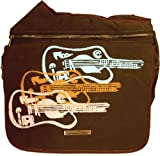 Diaper Dude Diaper Bag, Ultrasuede Guitars plus FREE Stroller Straps