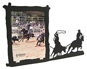 Team Roping 5X7 Vertical Picture Frame