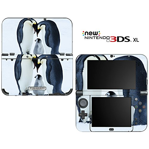 Sweet Baby Penguin with Parents Decorative Video Game Decal Cover Skin Protector for New Nintendo 3DS XL (2015 Edition)