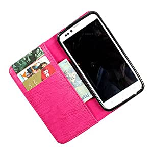 i-KitPit PU Leather Wallet Flip Case Cover For iPhone 5 / 5S (Pink)