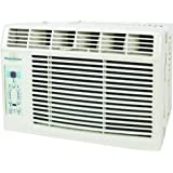 "Keystone KSTAW05A 5,000 BTU 115-Volt Window-Mounted Air Conditioner with ""Follow Me"" LCD Remote Control."