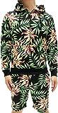 (マルカワジーンズパワージーンズバリュー) Marukawa JEANS POWER JEANS VALUE スウェット 上下セット セットアップ メンズ パーカー ショートパンツ ハーフパンツ 花柄 2color