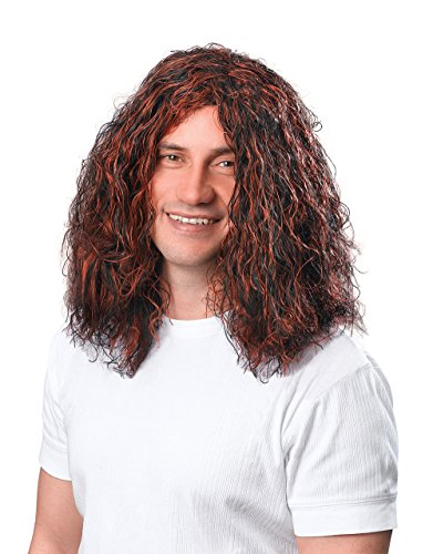 Bristol Novelty Mans Hippy Brown/Black Wig Wigs Men's One Size