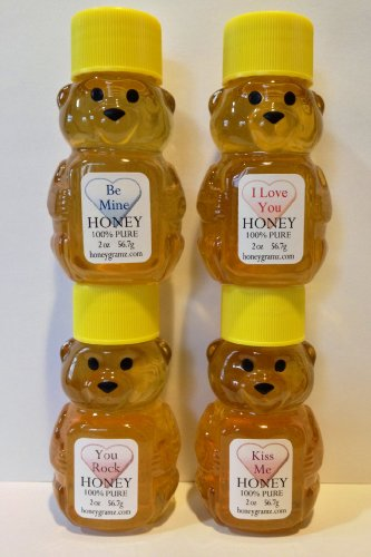 Unique Gifts - Gift Set of 4 Honey Bears  Sweet
