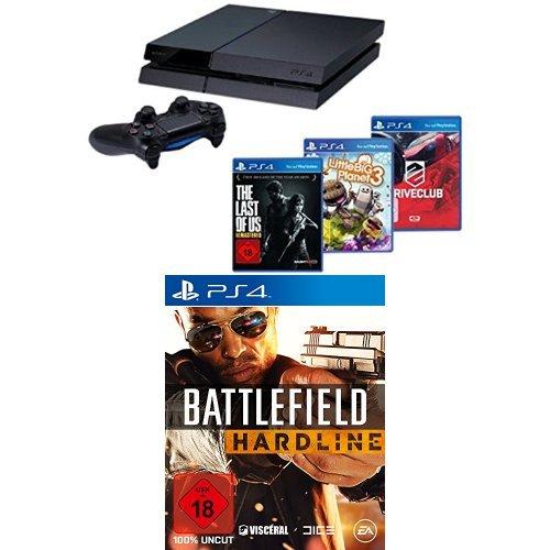 PlayStation 4 - Konsole + DriveClub + Little Big Planet 3 + The Last of Us: Remastered + Battlefield Hardline