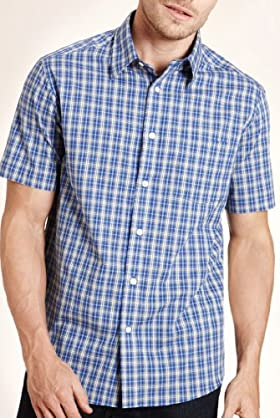 Blue Harbour Pure Cotton Picnic Check Shirt [T25-8187B-S]