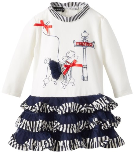 Kate Mack Baby-Girls Newborn Poodle In Paris Dress, Navy Blue, 6 Months  Best Offer