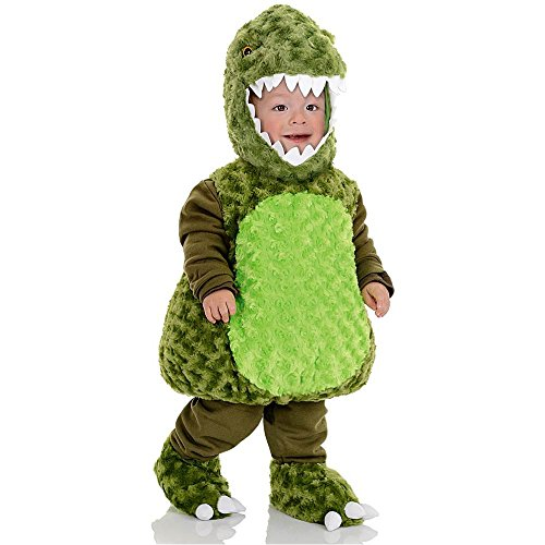 Green T-Rex Plush Belly Toddler Costume