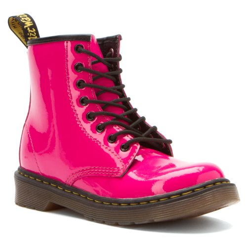 Dr. Martens Brooklee Boot (Toddler),Hot Pink Patent Lamper,9 Uk (10 M Us Toddler) front-471482