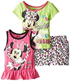 Disney Baby Girls'' 3 Piece Totally Adorable Minnie Mouse Short Set