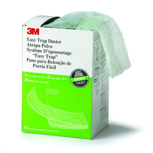 """3M Easy Trap Duster, 5"""" X 6"""" X 30' Dusting Cloth (8 Boxes Of 60 Sheets) front-74031"""