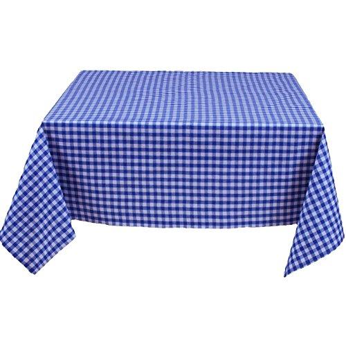 Tischdecke eckig, Karo 1x1 cm, Blau und Weiß, 100% Baumwolle, kariert, durchgewebt, Landhausstil | 100x100 cm