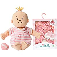 Maven Gifts: Manhattan Toy Nurturing First Doll Bundle Baby Stella Peach Soft Doll With Goodnight Pajama Playset...