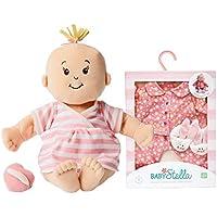 Maven Gifts: Manhattan Toy Nurturing First Doll Bundle Baby Stella Peach Soft Doll With Goodnight Pajama Playset...