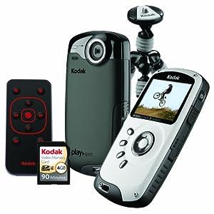 Kodak PlaySport (Zx3) HD Waterproof Pocket Video Camera Bundle (Black)