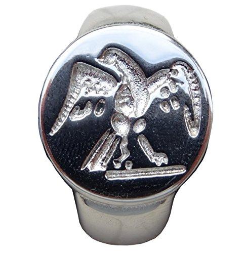 Belle Bijoux emblema Aquila Transformers romana, taglia 68, finitura argento