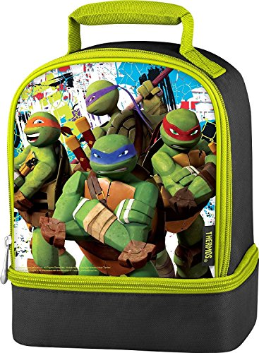 Teenage Mutant Ninja Turtles Dual Compartment Lunch Box / Tote - 1