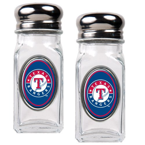 Favor Mlb Texas Rangers Salt And Pepper Shaker Set With Crystal Coat occupation