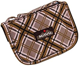 Kavu Odds amp Ends Wallet Clutch Bag Pink Plaid 968-40