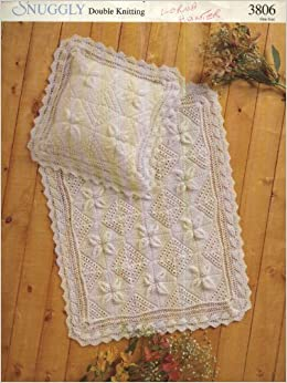 SIRDAR 3806 KNITTING PATTERN : Baby blanket and pillow cover: Amazon.co.uk: S...