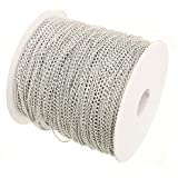10 Metres 3.5mm x 2.5mm Silver Plated Cable Chain Craft Jewellery Making Beading Fashion Arts Crafts