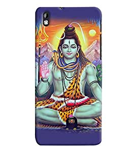 Fuson Premium Om Namo Rudraya Printed Hard Plastic Back Case Cover for HTC Desire 820