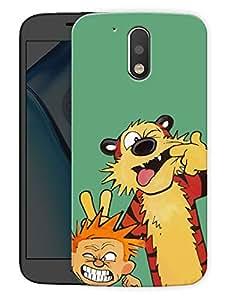 "Cute Boy And TigerPrinted Designer Mobile Back Cover For ""Motorola Moto G4"" (3D, Matte, Premium Quality Snap On Case)"